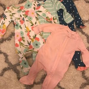 Baby Girl 0-3 Month 6 Piece Lot
